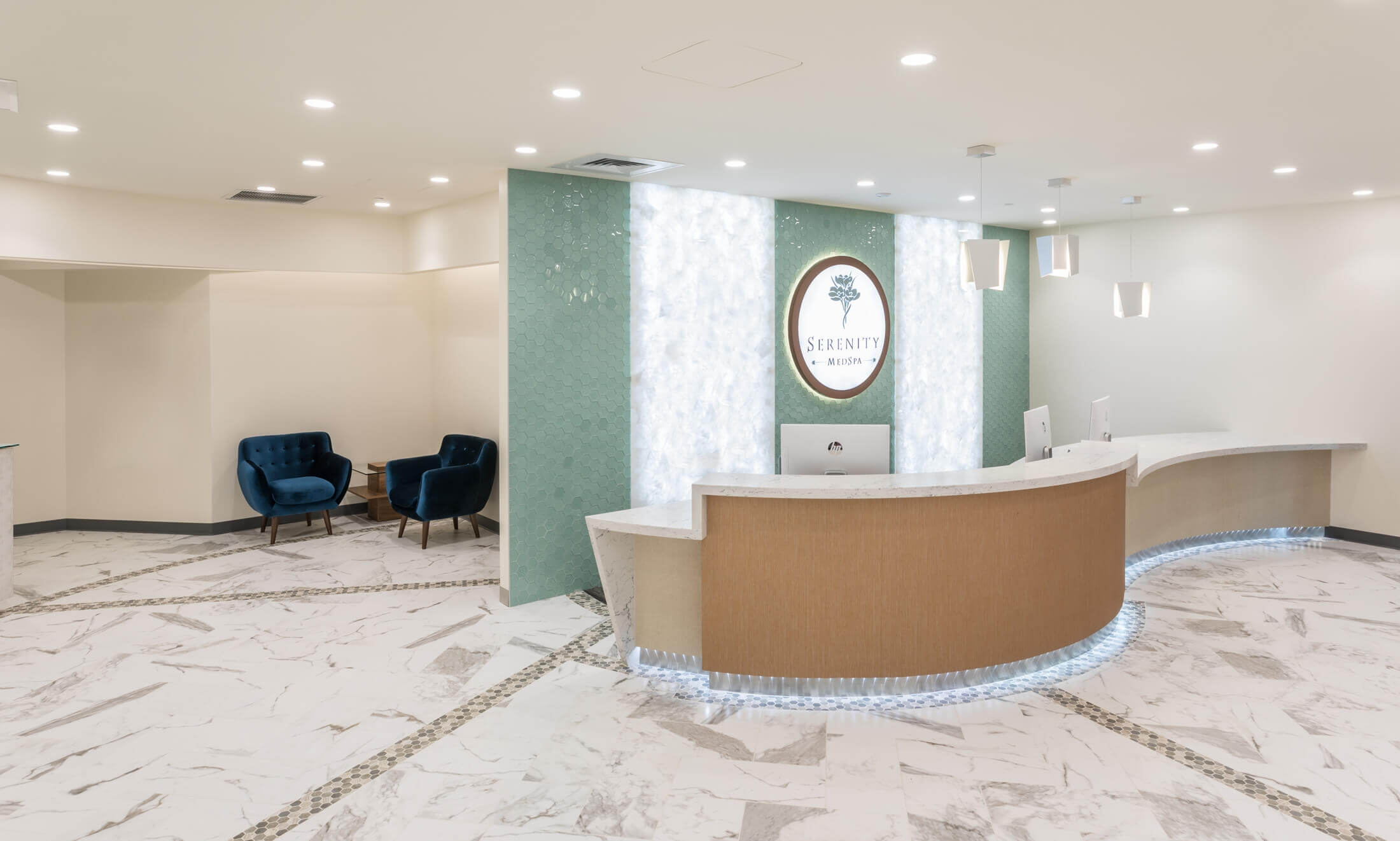 Serenity MedSpa interior commercial renovation