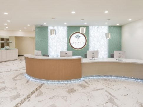 Serenity Med Spa lobby in Burlingame after renovation