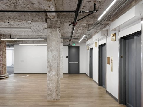 commercial office space re-construction with integrated lift system