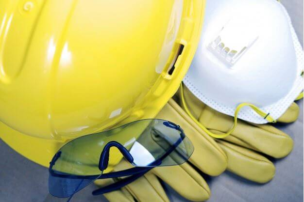 commercial general construction companies to use much better safety equipment as shown in this image