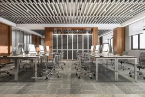 Office space of a newly renovated commercial building