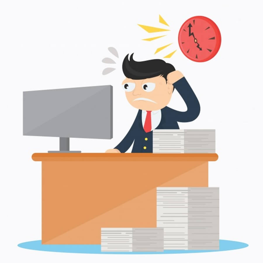 Employee facing time management problems