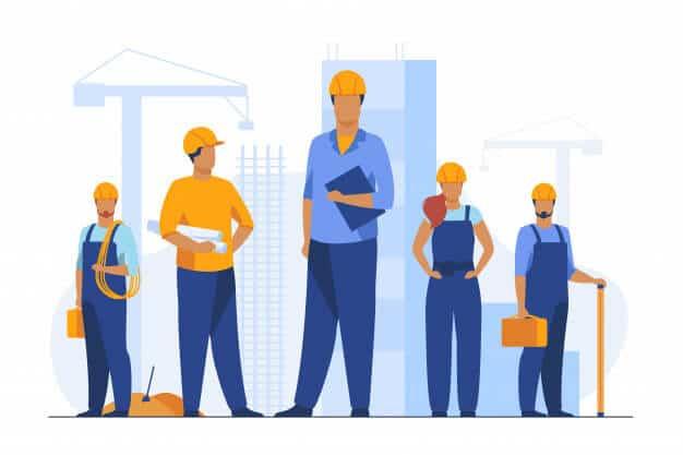 general contractor's team