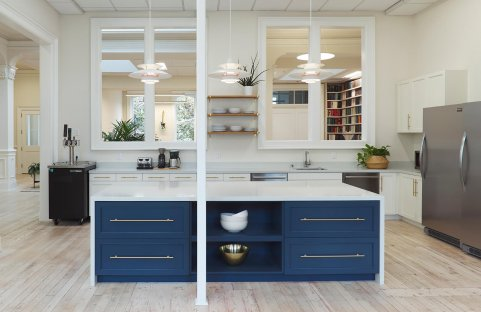 Kitchen area renovation for tenant improvement of ThredUp's office in san francisco
