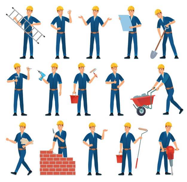 commercial contractor worker responsibilities