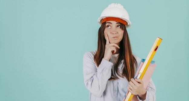 thoughtful engineer thinking about learning general contractor skill