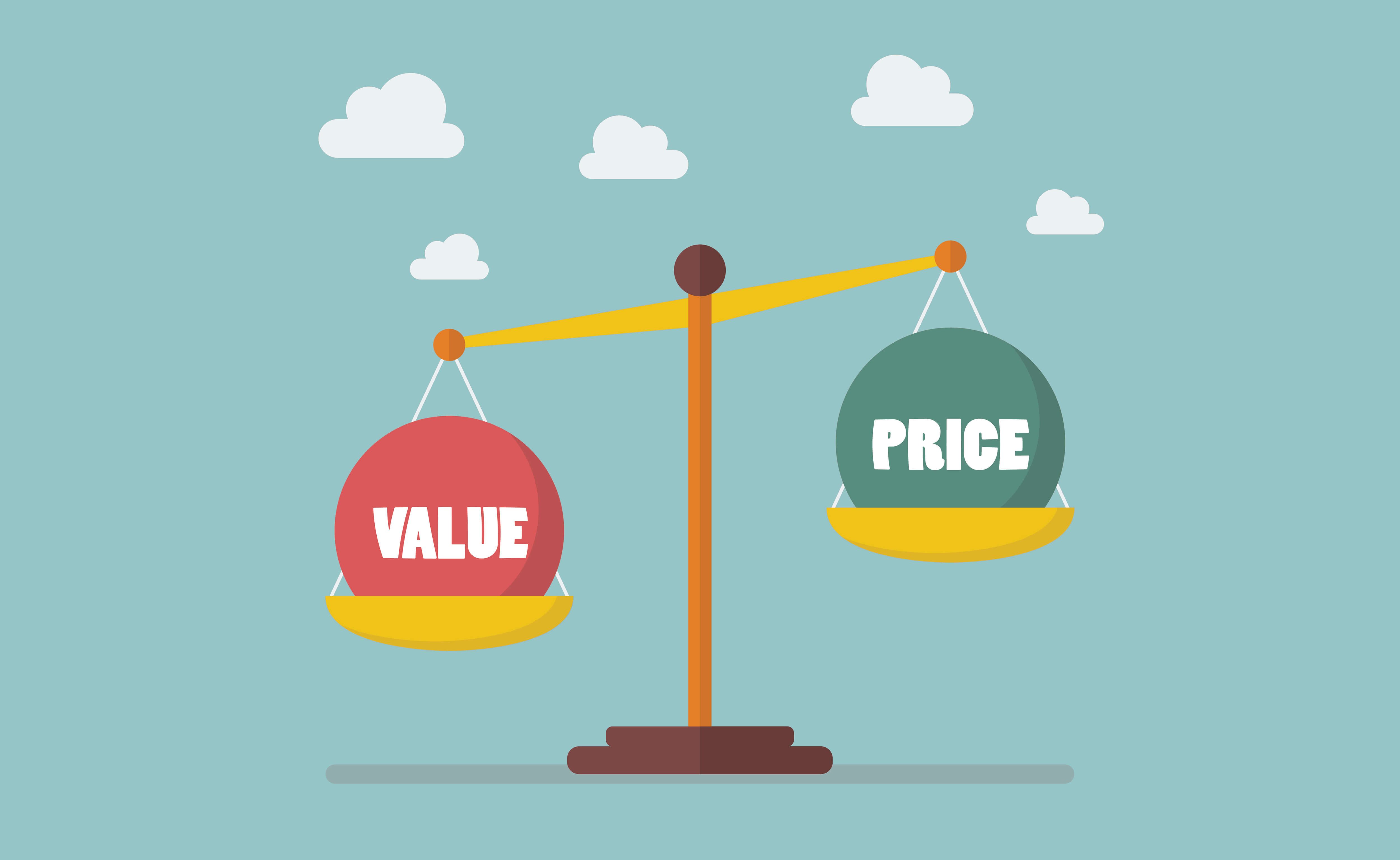 Value and Price balance on the scale